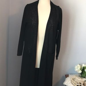 Nwt Sarah black open duster with pockets